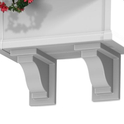 Mayne Yorkshire Decorative Brackets in White (Set of 2)