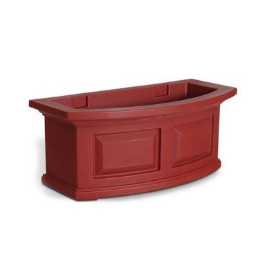 Mayne 2-Foot Nantucket Window Box in Red