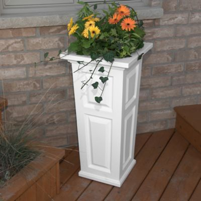 Mayne Nantucket 32-Inch Tall Planter in White
