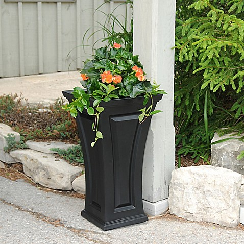 Buy mayne cambridge 28 inch tall planter in black from bed for P s furniture concord vt