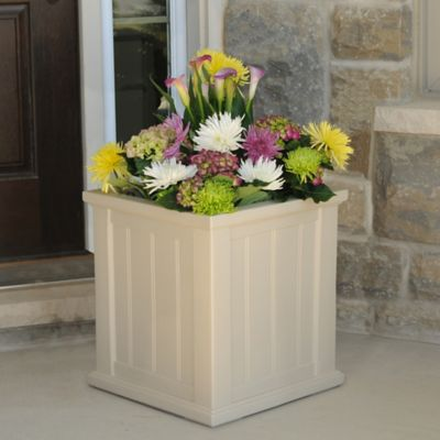 Mayne Cape Cod 14-Inch Square Patio Planter in Clay