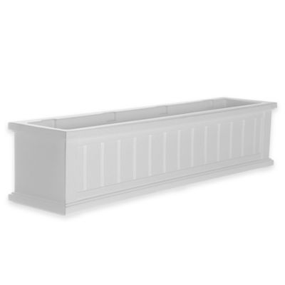 Mayne 4-Foot Cape Cod Window Box in White