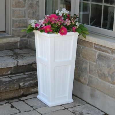 Mayne Cape Cod 32-Inch Tall Planter in White