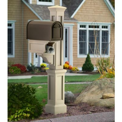 Mayne Rockport Single Mail Post in Clay