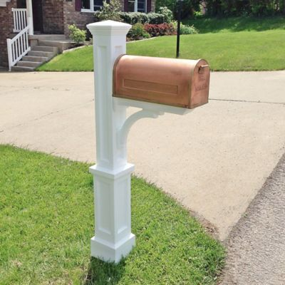 Newport Plus Mail Post in White