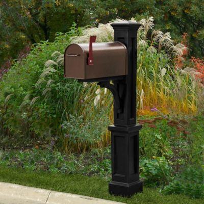 Mayne Newport Plus Mail Post in Black