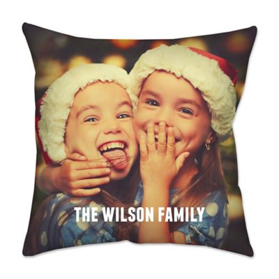 14-Inch Square Dual Sided Photo Poplin Throw Pillow
