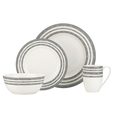 Lenox 4-Piece Black Dinnerware Set