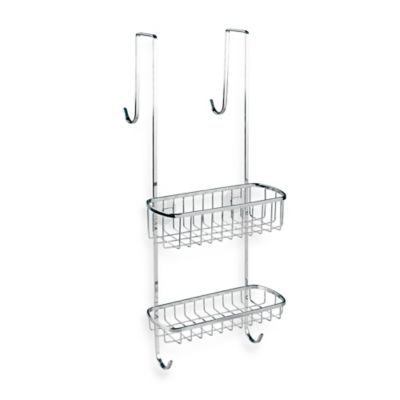 InterDesign Gia Over-the-Shower-Door Shower Caddy in Chrome Finish