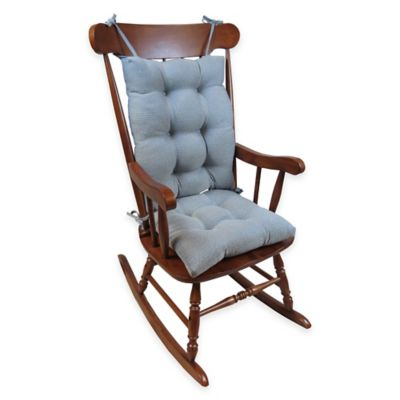 Klear Vu Omega Extra-Large 2-Piece Rocking Chair Pad Set in Steel