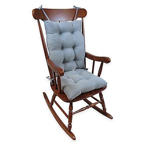 Buy Klear Vu Omega Extra-Large 2-Piece Rocking Chair Pad Set in Steel ...
