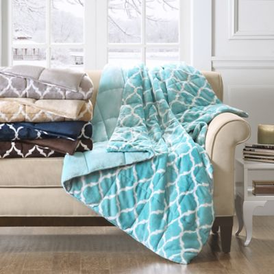 Madison Park Ogee Oversized Down-Alternative Throw in Grey