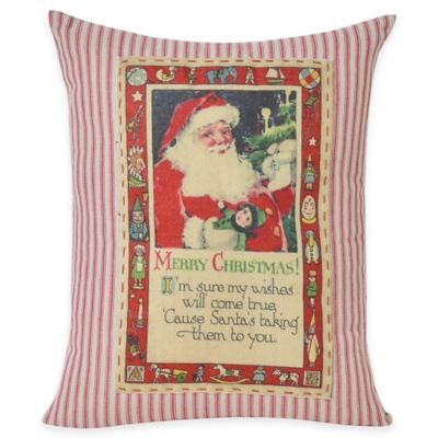 Victoria Classics Holiday Santa Oblong Throw Pillow