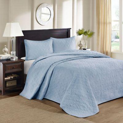 Madison Park Quebec King/California King Bedspread Set in Blue