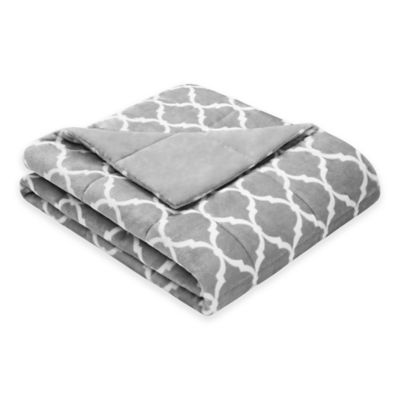 Madison Park Ogee Oversized Down Alternative Throw in Grey