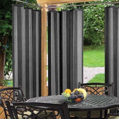 Easy Glide 72-Inch Indoor/Outdoor Ring Top Window Curtain Panel in Grey