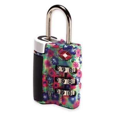 Samsonite® Travel Sentry 3-Dial Combination Lock in Floral