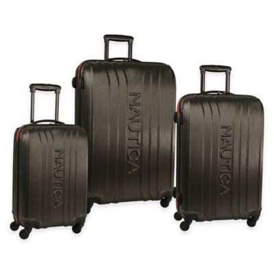 Nautica® True Winds 3-Piece Spinner Luggage Set in Black/Cobalt Blue