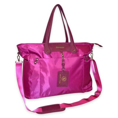 Adrienne Vittadini East West Fashion Business Tote in Raspberry