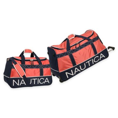 Nautica Dockside 2-Piece Duffle Set in Navy/Red/White