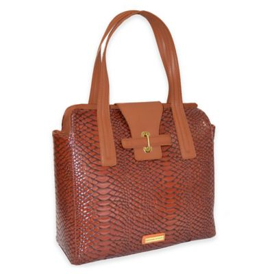 Adrienne Vittadini East West Fashion Business Tote in Merlot