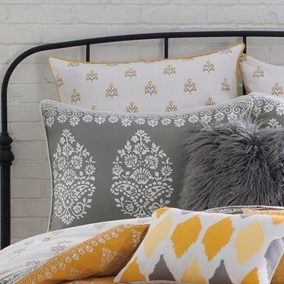 Yellow Gray Pillow Sham