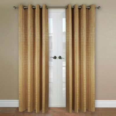 Versailles Home Natural Sustainable Bamboo 63-Inch Grommet Window Curtain Panel in Teak
