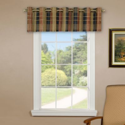 Versailles Home Natural Sustainable Bamboo Grommet Window Valance in Multicolor