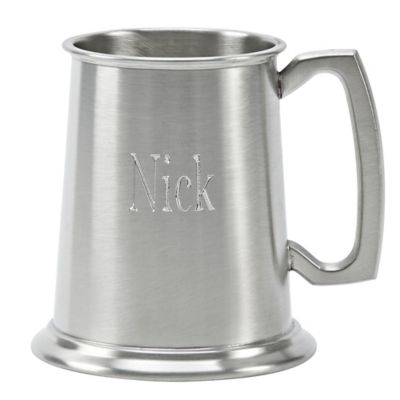 Glass Bottom Tankard in Pewter