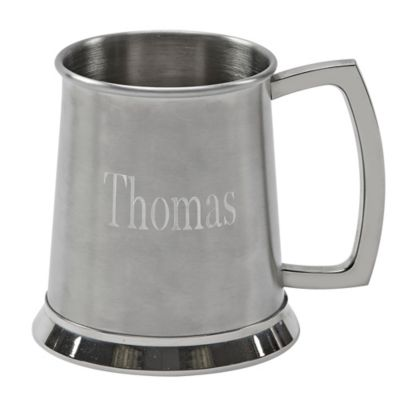 Stainless Steel Tankard with Satin Finish