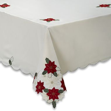 Christmas Spirit 60-Inch x 84-Inch Tablecoth in Ivory