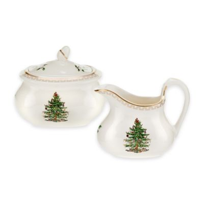 Spode® Christmas Tree Gold Sugar and Creamer
