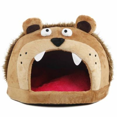 Roar Bear Snuggle Plush Polar Fleece Pet Bed in Light Brown