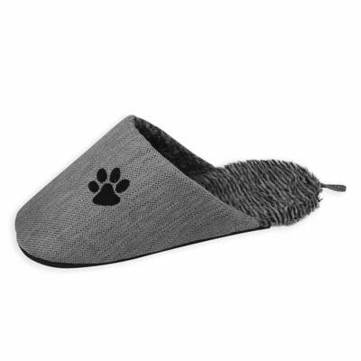 Slip-On Fashionable Slipper Dog Bed in Grey