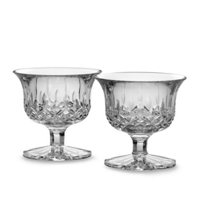 Waterford® Lismore Crystal Small Footed Bowl Pair