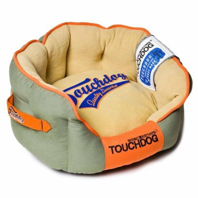 Touchdog Castle-Bark Rounded Premium Medium Dog Bed in Red/Blue