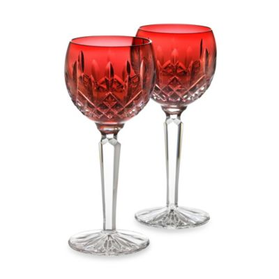 Waterford® Lismore Crimson Hock 6-Ounce Wine Glass (Set of 2)