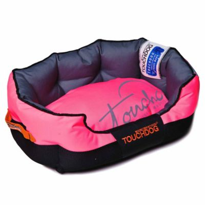Toughdog Performance-Max Sporty Comfort Cushioned Large Dog Bed in Pink/Black