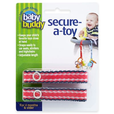 Baby Buddy® Secure-a-Toy Straps in Navy/Red (Set of 2)