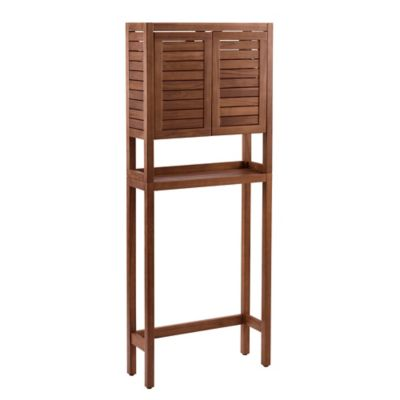 Stained Teak 2-Door Space Saver in Brown