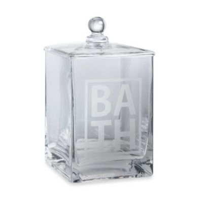 """Taymor® Medium Etched """"Bath"""" Glass Canister"""