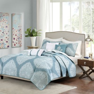 Blue Quilted Coverlets