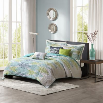 Madison Park Sonali 6-Piece Quilted King/California King Coverlet Set in Blue