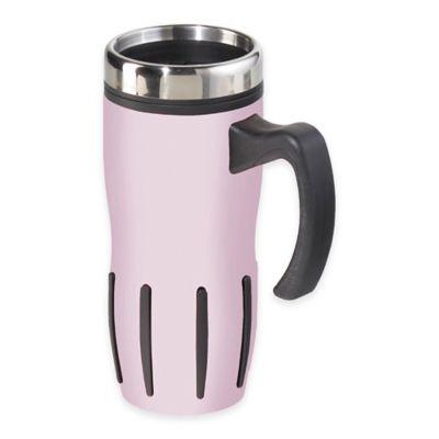 Oggi™ Lustre 16 oz. Multi-Grip Stainless Steel Travel Mug in Pink