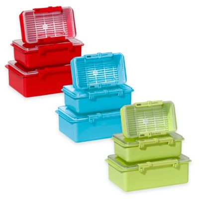 Oggi™ 3-Piece Snap N Seal Storage Set in White