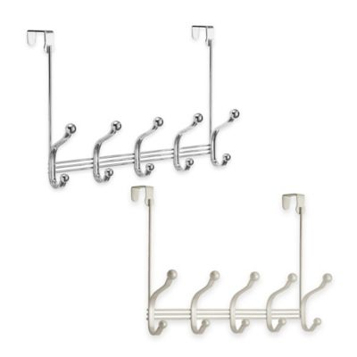 InterDesign® York Lyra Over-the-Door 5-Hook Rack in Satin