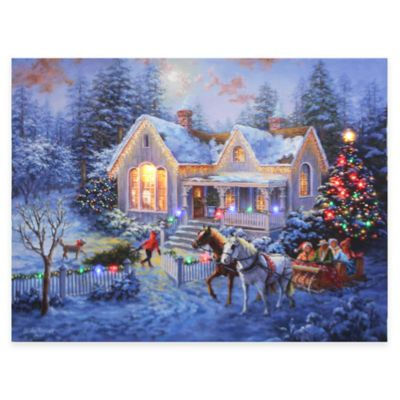 Lighted Christmas Wall Hangings