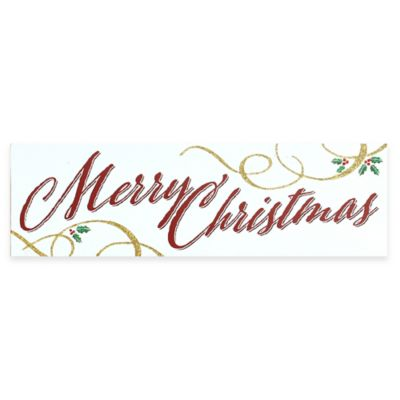 """Merry Christmas"" Wood Plaque Wall Art"