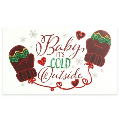 """Baby It's Cold Outside"" Christmas Wood Plaque Wall Art"