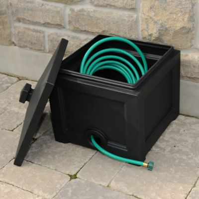 Mayne Fairfield Garden Hose Bin in Black